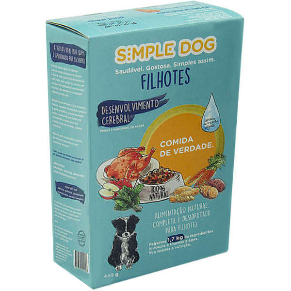 Simple Dog Filhotes Frango - 440g 1