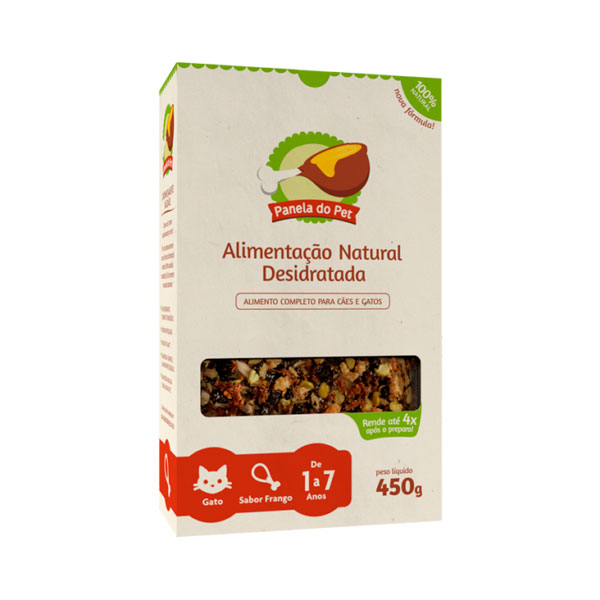 Panela do Pet Gato Adulto Sabor Frango - 450g 1