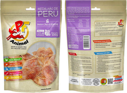 Petisco natural PF Animal Medalhão de Peru Desidratado 1