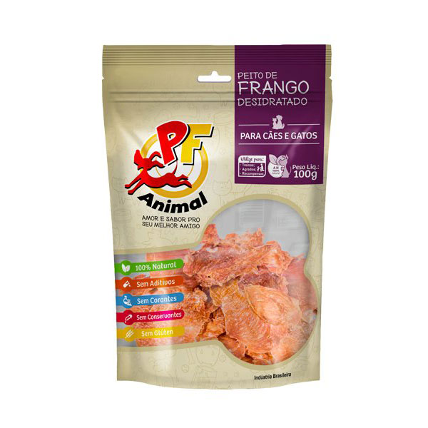 Petisco natural PF Animal Peito de Frango Desidratado 1