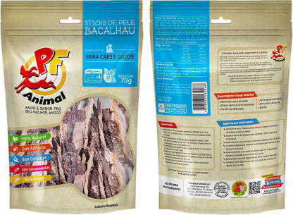 Petisco natural PF Animal Stick de Pele de Bacalhau desidratada 1