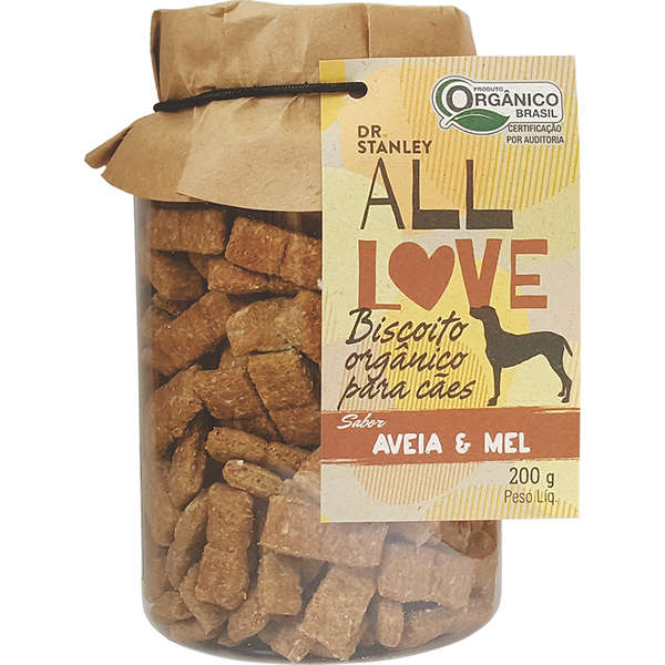 Petisco natural Dr. Stanley All Love Biscoito Orgânico Aveia & Mel - 200g 1