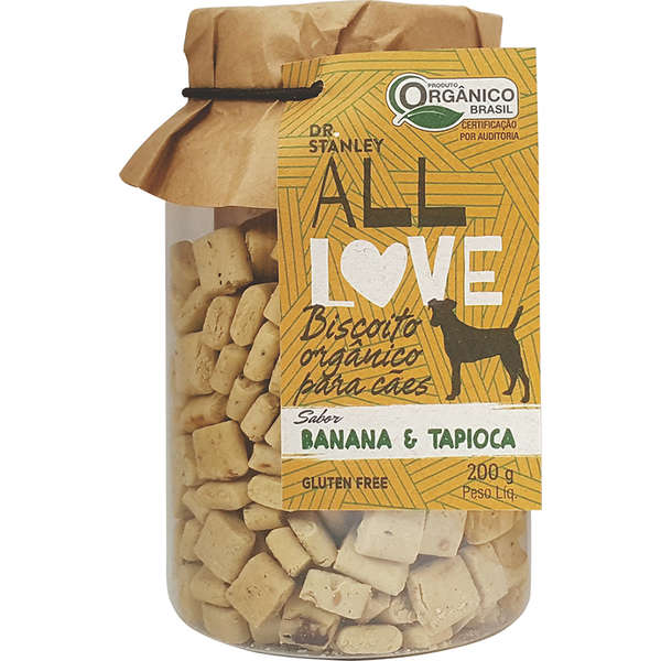 Petisco natural Dr. Stanley All Love Biscoito Orgânico Banana& Tapioca - 200g 1