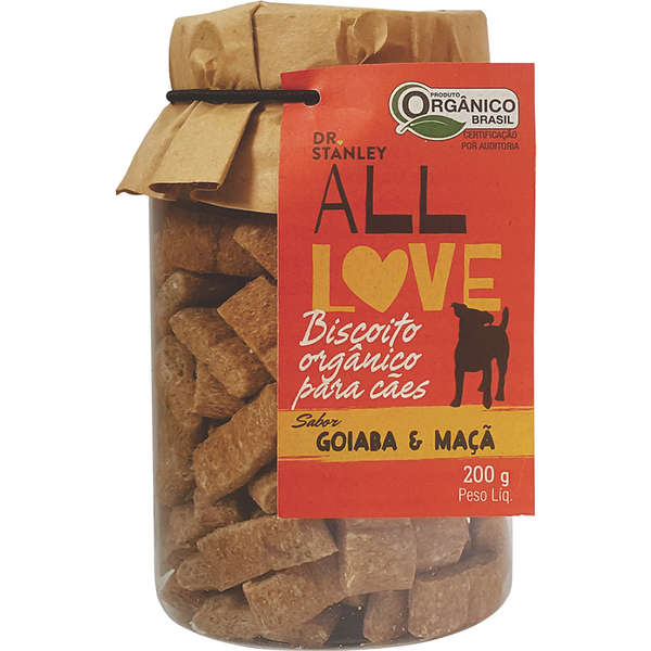 Petisco natural Dr. Stanley All Love Biscoito Orgânico Goiaba & Maçã - 200g 1