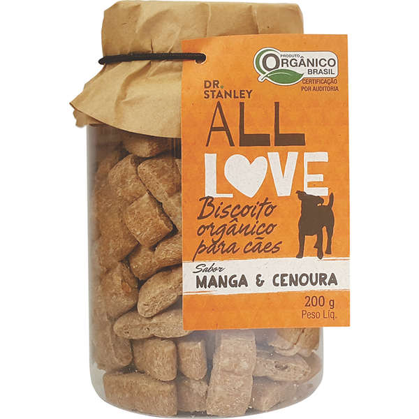 Petisco natural Dr. Stanley All Love Biscoito Orgânico Manga & Cenoura - 200g 1