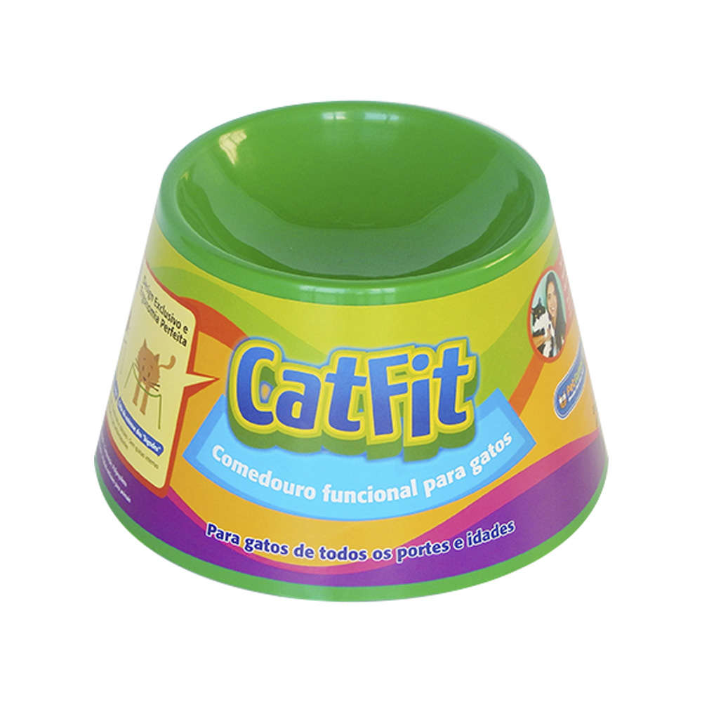 Comedouro para Gatos Pet Games Cat Fit - Verde 1