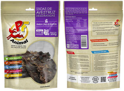 Petisco natural PF Animal Isca de Avestruz Desidratada - 100g 1