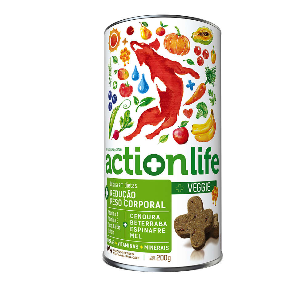 Petisco Natural Spin Pet Actionlife Veggie - 200g 1