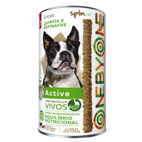 Petisco natural Spin Pet Sticks Probiotic Active
