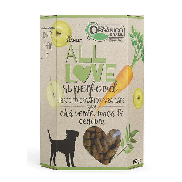 Biscoito Orgânico All Love Superfood Chá Verde