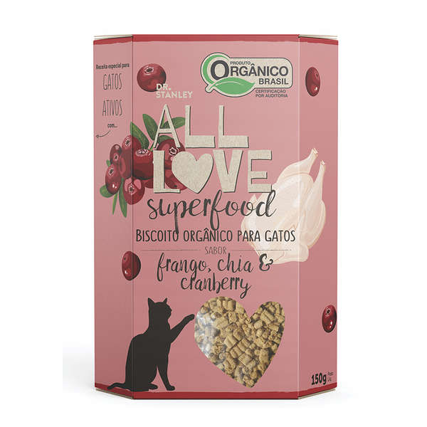 Biscoito Orgânico All Love Superfood Frango, Chia e Cranberry