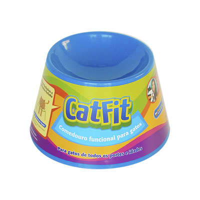 Comedouro para Gatos Pet Games Cat Fit - Azul 1
