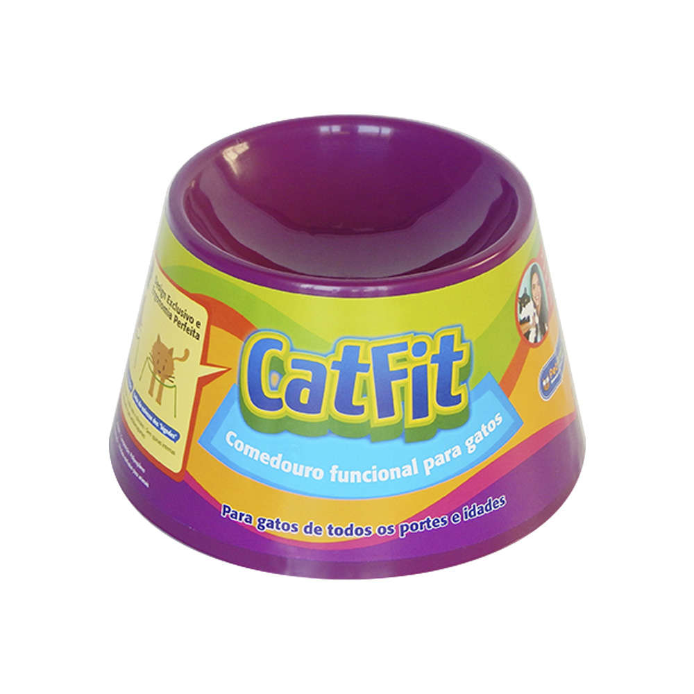 Comedouro para Gatos Pet Games Cat Fit - Roxo 1