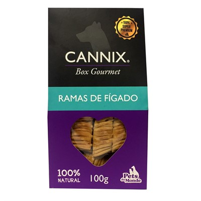 Petisco Cannix Box Gourmet Mini Ramas de Fígado