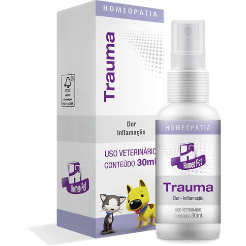 Homeopatia para Cães e Gatos HomeoPet Real H Trauma