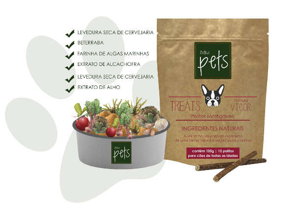 Palitos Mastigáveis Botica Pet Treats Fórmula Vigor