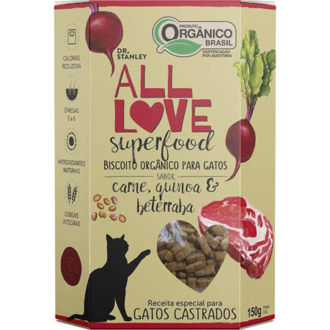 Biscoito Orgânico All Love Superfood Carne, Quinoa e Beterraba